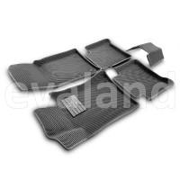 3D коврики Euromat3D EVA в салон для Mercedes E-Class (W211) (2002-2009) № EM3DEVA-003520G Серые