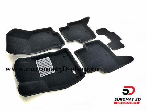 Текстильные 3D коврики Euromat3D Business в салон для Audi A3 (2014-) № EMC3D-004507