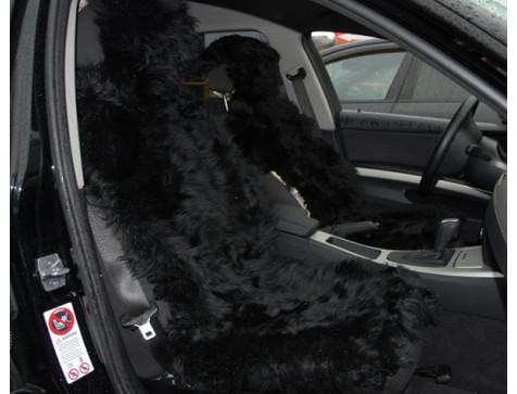 Меховая накидка из натуральной овчины Euromat|Tex (цельная не стриженная ) черная № EUSH-003000